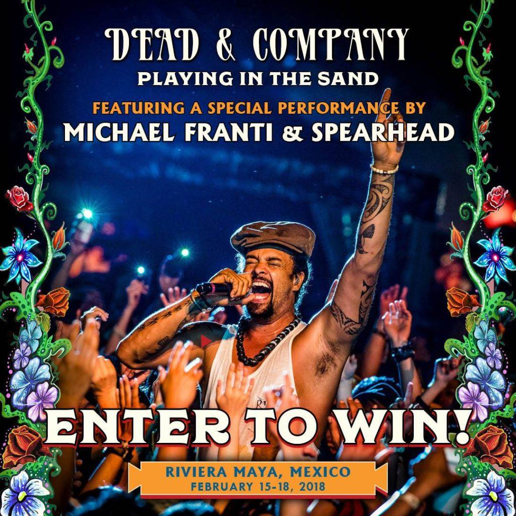 Join us on the beach at 'Playing in the Sand' with Dead & Company