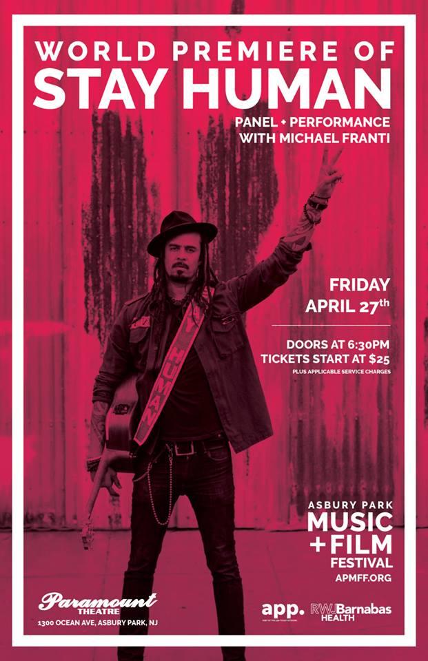 STAY HUMAN FILM PREMIERE – ASBURY PARK MUSIC + FILM FESTIVAL