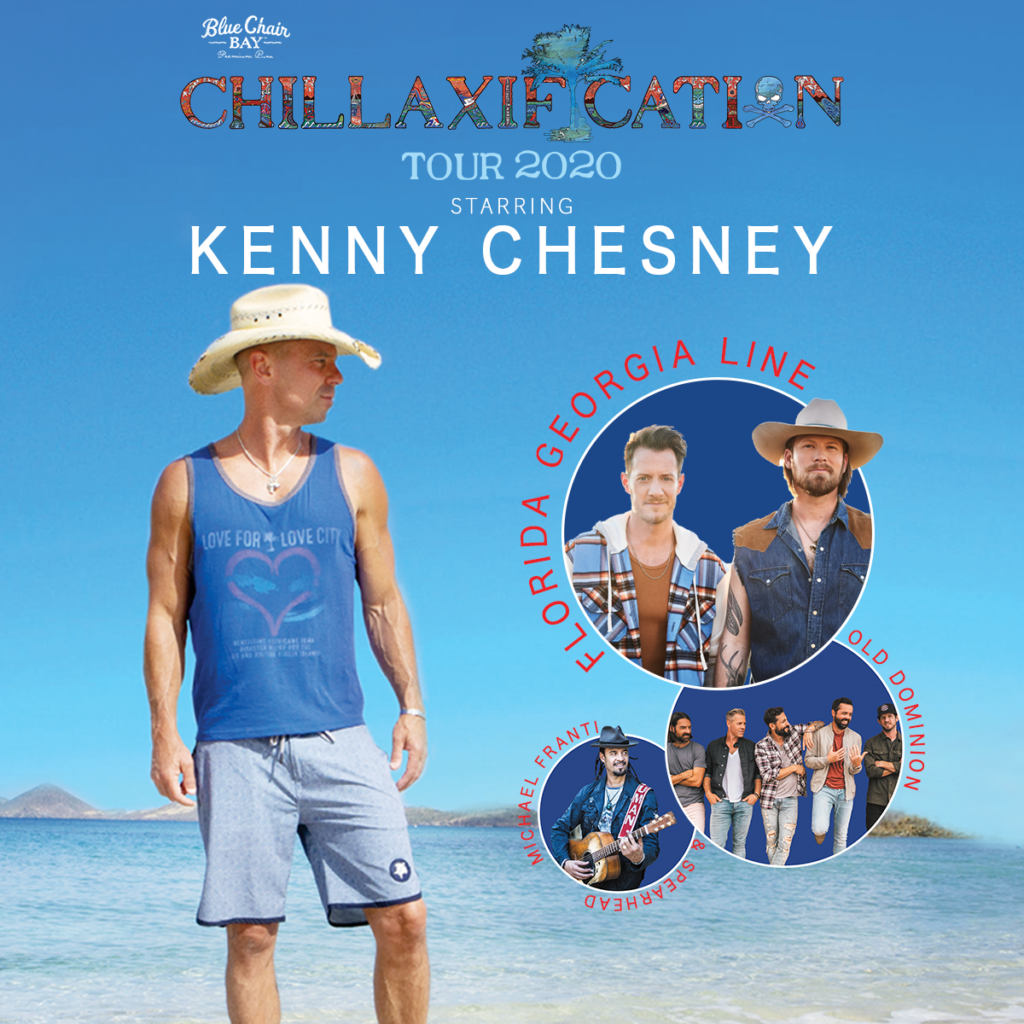 MICHAEL FRANTI & SPEARHEAD ON KENNY CHESNEY'S 2020 CHILLAXIFICATION TOUR