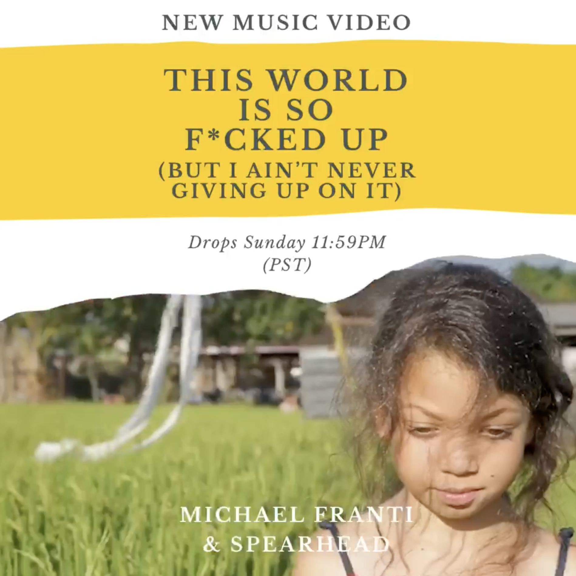 "Video Premiere Tomorrow: ""This World Is So F*cked Up (But I Ain't Never Giving Up On It)"""