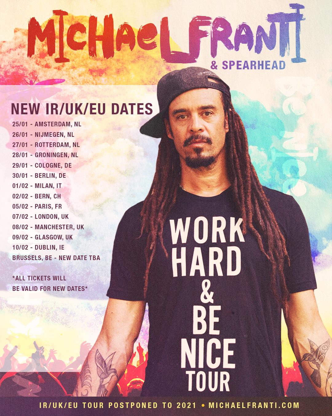 New international Tour dates