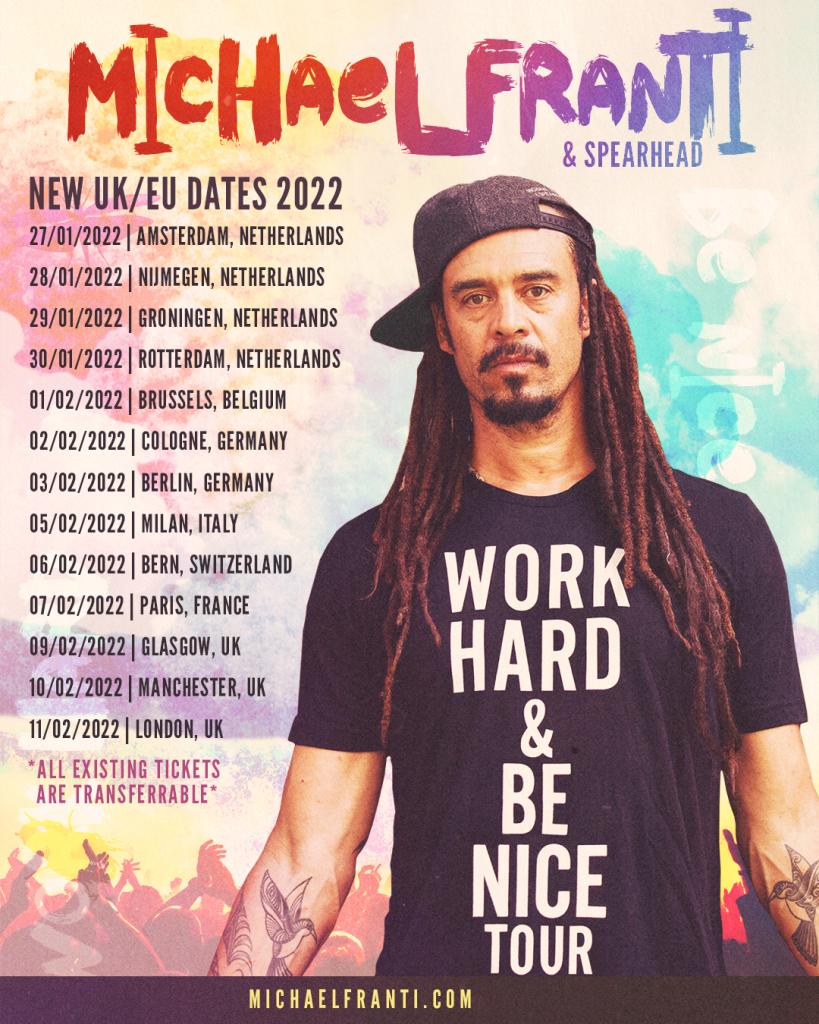 Updated 2022 UK/EU Tour Dates
