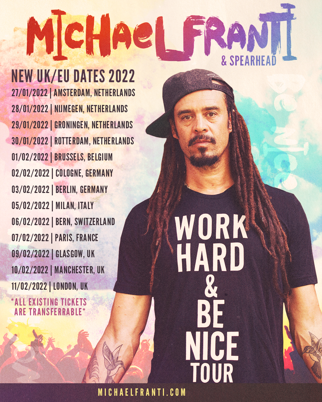 Updated 2022 UK/EU Tour Dates